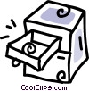 Vector Clip Art picture  of a filing cabinet