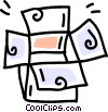 Vector Clip Art graphic  of a cardboard box
