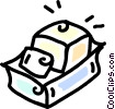 Vector Clipart graphic  of a butter tray