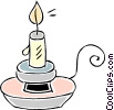 Vector Clip Art graphic  of a candle