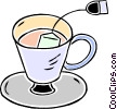 cup of tea Vector Clipart illustration