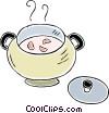 soup pot Vector Clipart graphic