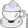 Vector Clip Art graphic  of a special coffee
