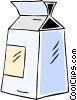 Vector Clip Art image  of a carton of milk
