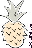 Vector Clip Art graphic  of a pineapple