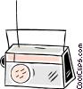 Vector Clip Art image  of a radio