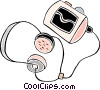 Vector Clip Art picture  of a portable stereo/CD player
