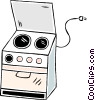 oven Vector Clipart graphic