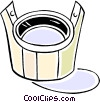 bucket Vector Clipart graphic