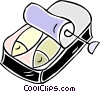 can of sardines Vector Clipart illustration