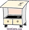 Vector Clipart image  of a drawers