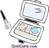 Vector Clip Art image  of a makeup kit