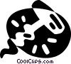 Vector Clipart graphic  of a corkscrew