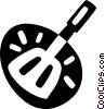 Vector Clip Art graphic  of a egg lifter