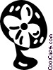 Vector Clipart graphic  of a electric fan