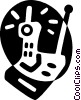 Vector Clipart image  of a cordless phone