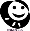 Vector Clip Art picture  of a happy face
