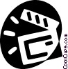 Vector Clipart image  of a clapper board