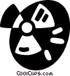 Vector Clip Art image  of a radioactive symbols