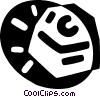 Vector Clipart picture  of a keyboard key