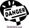 Vector Clipart illustration  of a danger sign