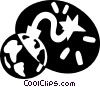 Vector Clip Art graphic  of a planet earth