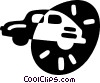 Vector Clipart picture  of a family car