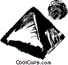 Vector Clipart graphic  of a pyramid