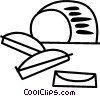 Vector Clip Art graphic  of a Sliced bread