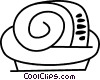 Vector Clip Art graphic  of a Dinner roll