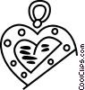 Vector Clip Art graphic  of a Heart jewelery