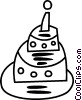Vector Clipart image  of a Birthday cake