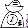 Vector Clipart illustration  of a Food scale