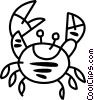 Vector Clip Art image  of a Fiddler crab