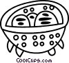 Vector Clipart picture  of a Strainer