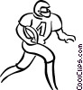 Vector Clipart illustration  of a football player