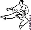 Vector Clip Art picture  of a karate