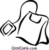 Vector Clipart image  of a Teabag