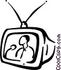 Tv reporter Vector Clip Art graphic