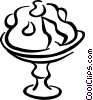 Vector Clip Art image  of a Cake