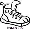 Vector Clip Art graphic  of a Running shoe