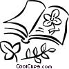 Book on flowers Vector Clipart illustration