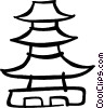 Vector Clipart illustration  of a Pagoda
