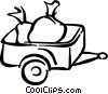 Trailer filled with garbage Vector Clip Art image