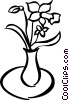Vector Clipart graphic  of a Flowers in a vase