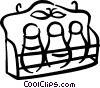 Vector Clip Art picture  of a Spice rack