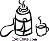 Canteen of coffee Vector Clipart illustration