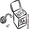 Vector Clipart graphic  of a Tea and tea ball