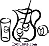 Jug of lemonade Vector Clip Art graphic