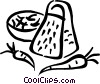 Vector Clipart image  of a Food grater with carrots